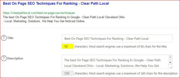 ALL IN ONE SEO PACK META TAGS